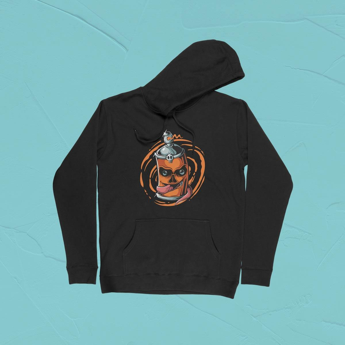 IMAGE-PRODUCT-SPRAY COTTON PULLOVER HOODIE